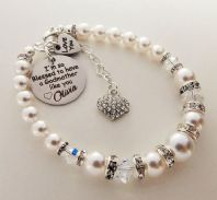 Godmother Personalized  Swarovski Bracelet  - Boxed